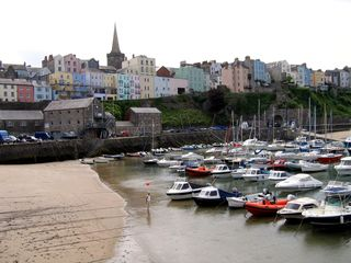 Wales tenby waterfront