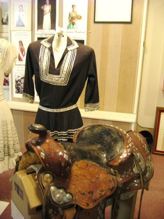 Fiesta dress and edwards's saddle