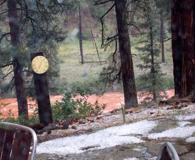 Hail and red pine river