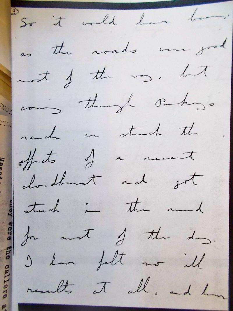 Bronson's handwriting