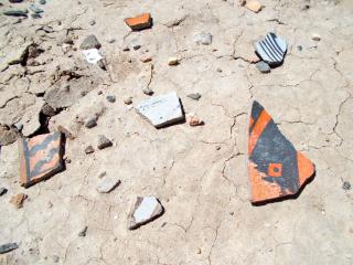 Potsherds Piedras Marcadas